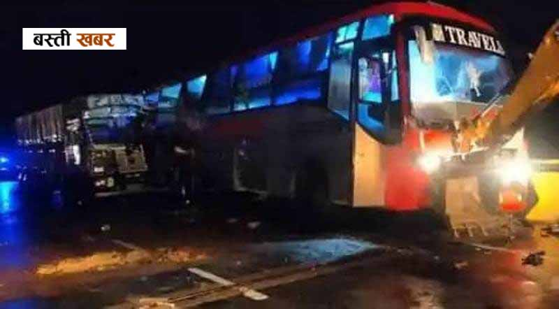 Traumatic road accident in Barabanki: Truck hit a bus parked on the road, 16 people died
