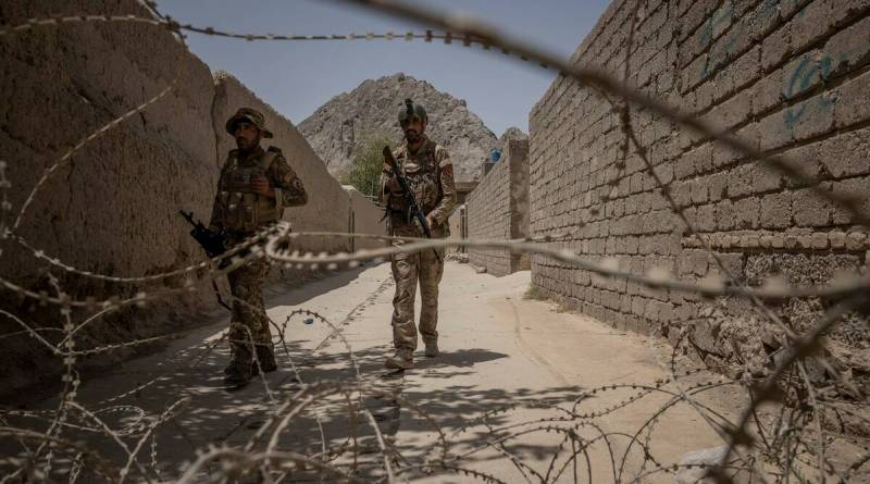 Afghan police special forces soldiers at a frontline position in Kandahar, Afghanistan, Aug. 3, 2021. How the country, and its military and police got to this point, can be traced to a slew of issues over the past two decades. (Jim Huylebroek/The New York Times)