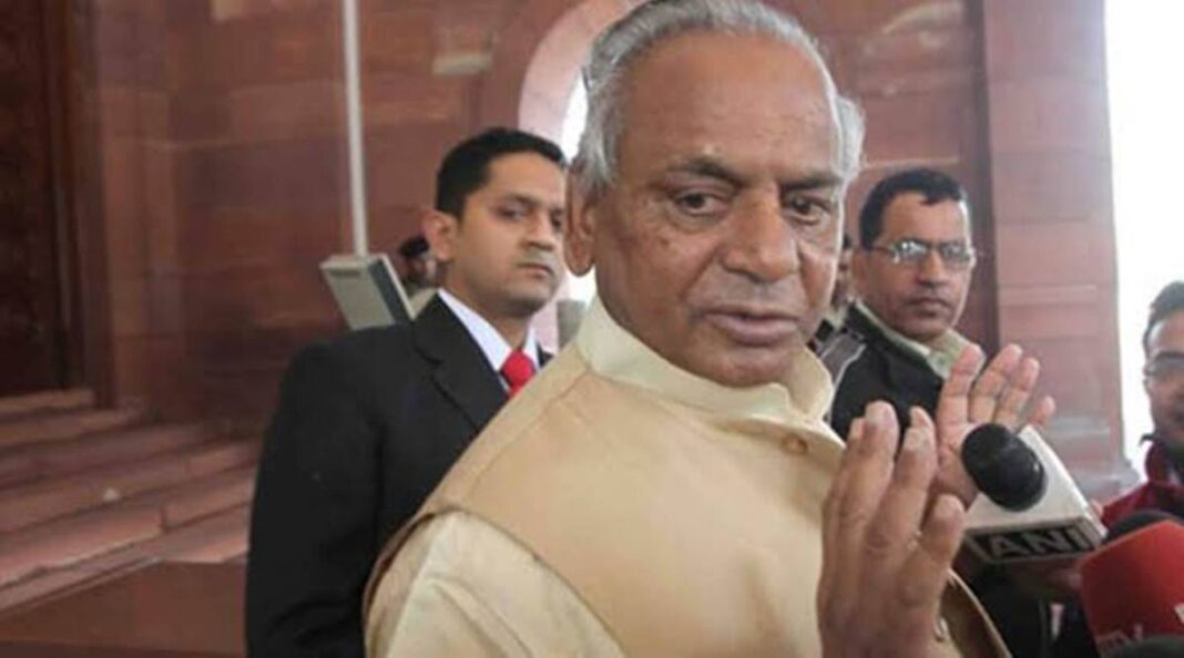 Former Uttar Pradesh chief minister Kalyan Singh was admitted to the intensive care unit of the Sanjay Gandhi Post Graduate Institute of Medical Sciences. (File photo)